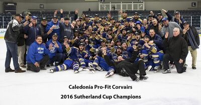 2016 Sutherland Cup Champions Caledonia Corvairs