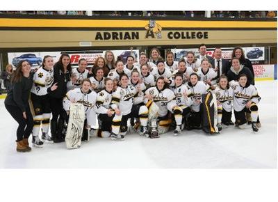 2017 NCHA women's champs Adrian Bulldogs