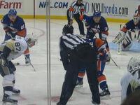 Pittsburgh vs Islanders 2009 faceoff
