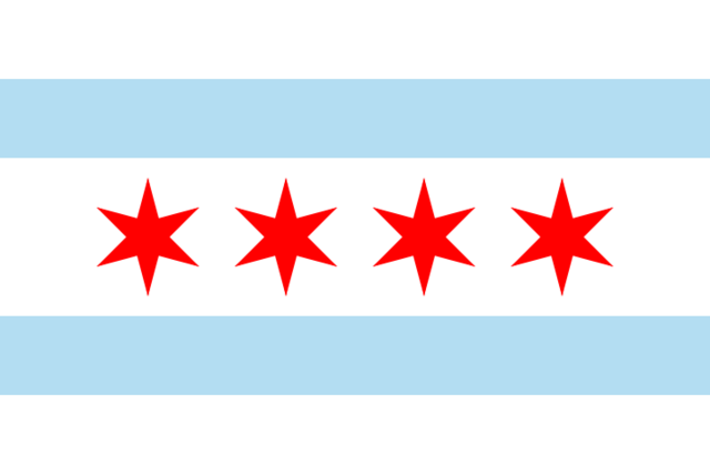 File:Chicago, Illinois Flag.png