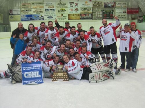 2014 Carillon Senior Hockey League Champions Red River Wild