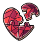 Heart Fragment Jigsaw Puzzle