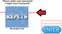 The error message if the password is not valid.