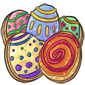 Decorated Egg Cookies