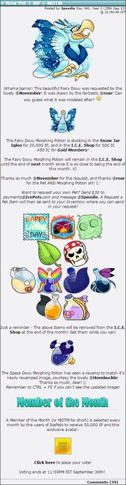 2013-09-25 New Pet + MP + MOTM