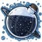 Space Snow Jar