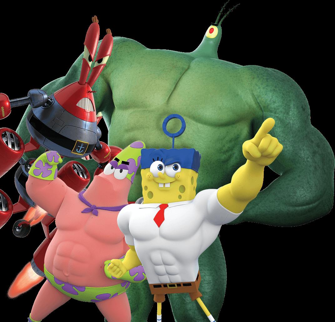 image spongebob patrick plankton krabs cgi heroes png idea