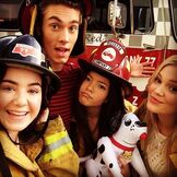 The Cast with Firefighter Hats