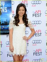Piper Curda Wearing a White Dress