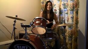 Piper Curda on the Drums