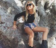 Olivia Holt Black Sunglasses