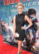 Olivia Holt at Iron Man