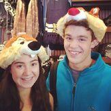 Sarah and Peyton Wearing Hats