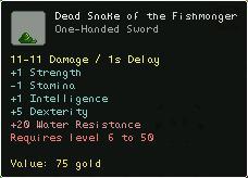 Dead Snake of the Fishmonger