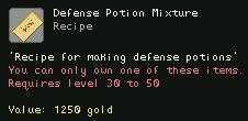 Defense Potion Mixture