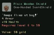 Plain Wooden Shield