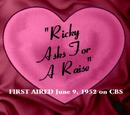 Ricky Asks for a Raise