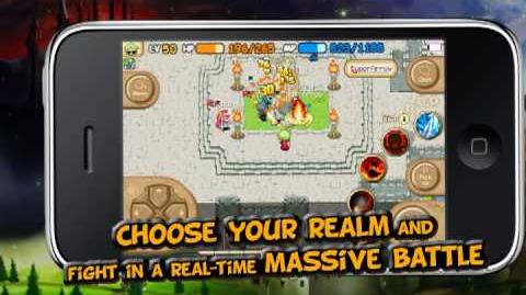 IMO The World of Magic, a MMORPG for iPhone Gameplay Trailer