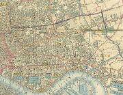 Stepney Area, part of Cross's New Plan Of London, 1853
