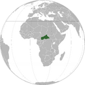 Central African Republic (orthographic projection)