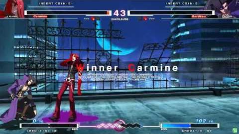 UNDER NIGHT IN-BIRTH Carmine Gameplay