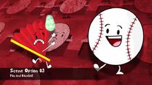 Fan and Baseball Scene Option 3
