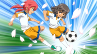 Shindou and Kirino in second uniform CS 18 HQ
