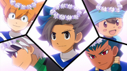 Minaho, Ibuki, Matatagi, Shinsuke and Zanakurou's flower crowns EP43 HQ