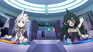 Ryugel and Gandales in spacecraft EP32 HQ