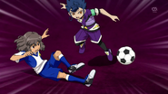 Shindou stopping Tsurugi Galaxy 37 HQ
