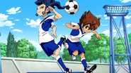 Tenma and Tsurugi training Galaxy Episode2 HQ