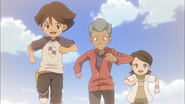 Ichinose, Domon and Aki playing