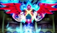 Tenma using Majin Pegasus GO game