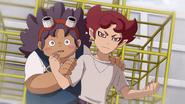 Young Mahoro protecting Young Amagi GO 35 HQ