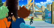 Tenma watching Endou