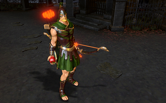 File:Achilles' End Green Arrow Gameplay Skin Infinite Crisis.png