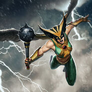 Hawkgirl keyart wallpaper