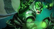 Jade Warrior Arcane Green Lantern Skin Costume Art