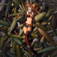 Bombshell Harley Quinn Splash Art Skin Costume