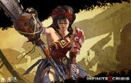 Atomic wonder woman splah character art