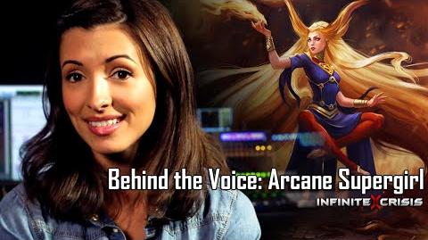 Behind the Voice India de Beaufort as Arcane Supergirl