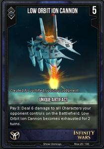 Low Orbit Cannon