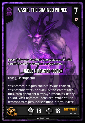 INFESTATION VASIR THE CHAINED PRINCE