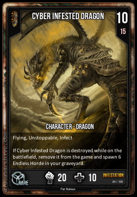 INFESTATION CYBER INFESTED DRAGON