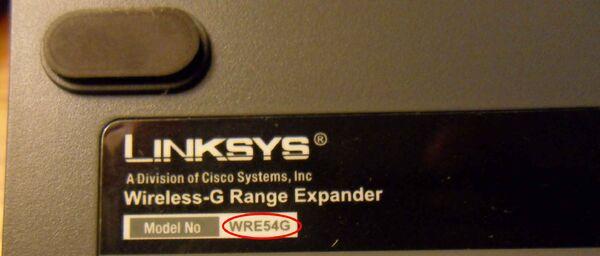 Linksys WRE54G v1.0 11