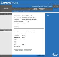 Linksys WRT400N v1 stock FW wan mac