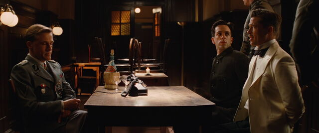 File:Hans Landa, Smithson Utivich and Aldo Raine in the tavern.jpg