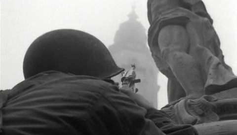 File:American soldier with M1 Carabine fires at the tower.jpg