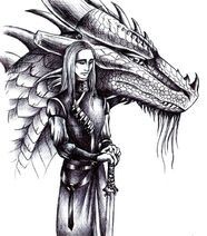Oromis and Glaedar black and white