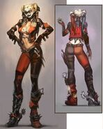 Harley Quinn Alternate Costume Concept Art